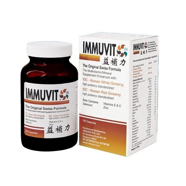 Immuvit Multivitamin/Mineral Supplement (100 Capsules)