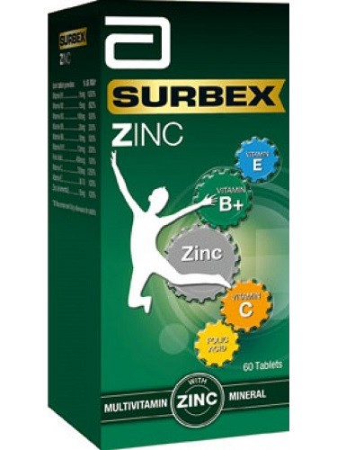 Surbex Zinc Multivitamin And Mineral Tablets 60 S Pharmed Import